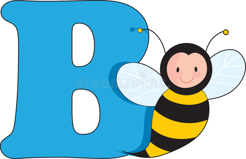 Download Letter B With A Bee Stock Photography - Image: 13152452