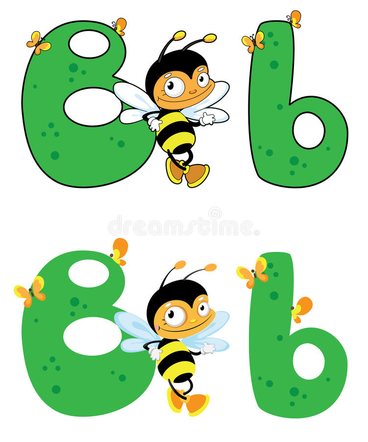 Download Letter B bee stock vector. Illustration of cartoon, element - 26148484