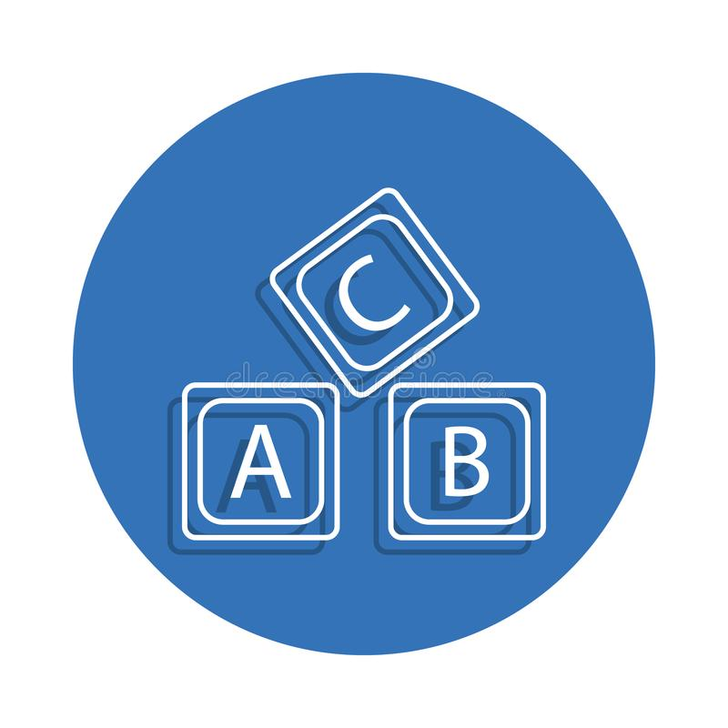 letter A B C logo alphabet badge icon. Element of education for mobile concept and web apps icon. Thin line icon with shadow in ba vector illustration