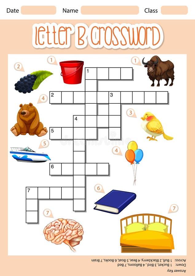 The Letter B Crossword royalty free illustration