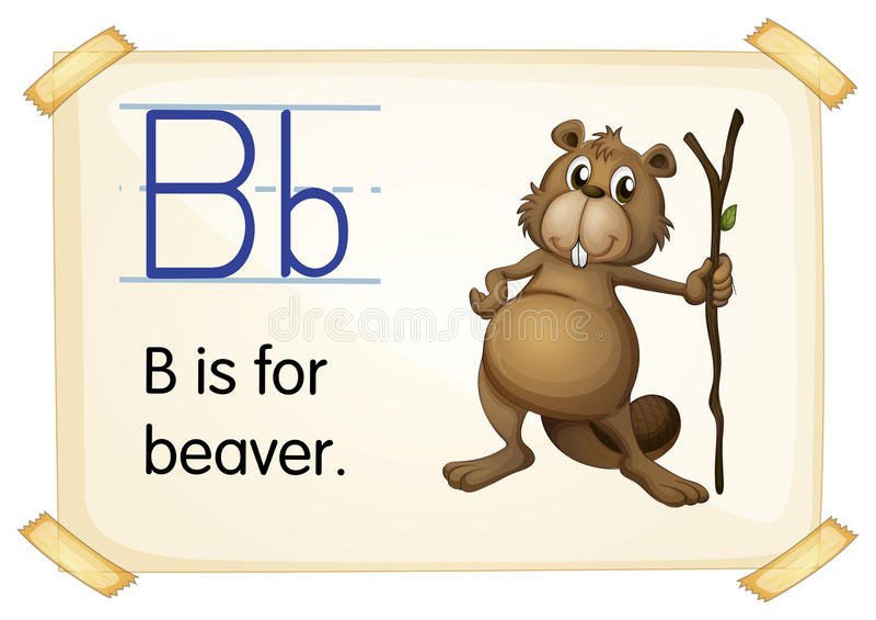 Letter B stock illustration