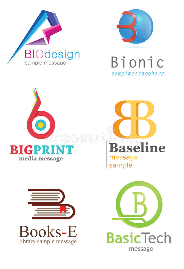 Letter B Logo. Alphabetical Logo Design Concepts. Letter B vector illustration