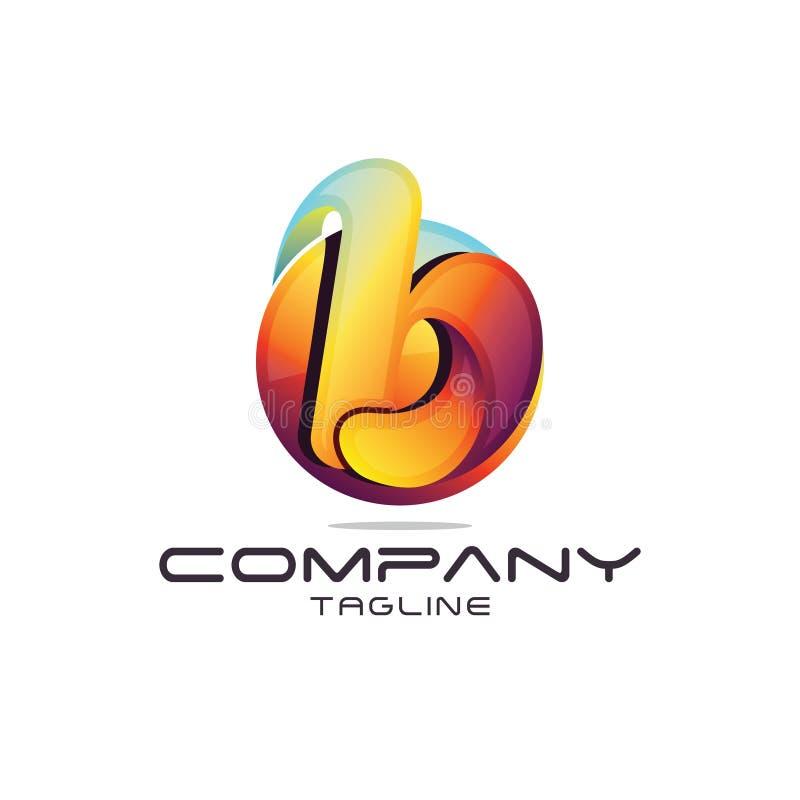 Letter b Logo. 3D modern and sophisticated letter b logo template royalty free illustration