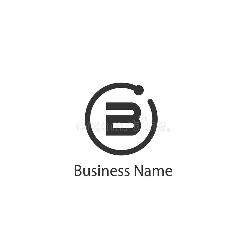 Letter B Logo Design. Letter B Logo Template Design stock illustration