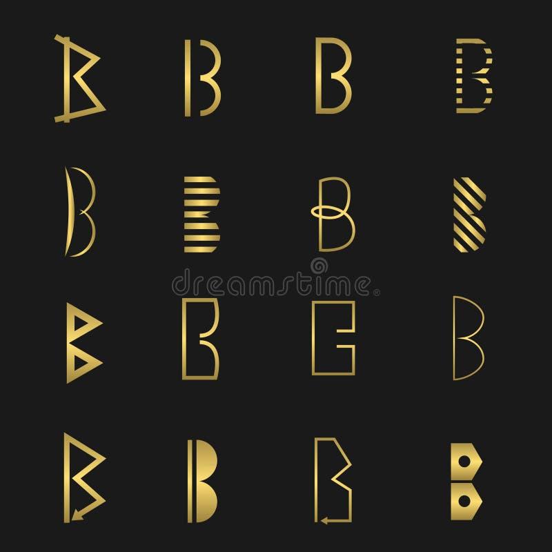 Letter B set royalty free illustration