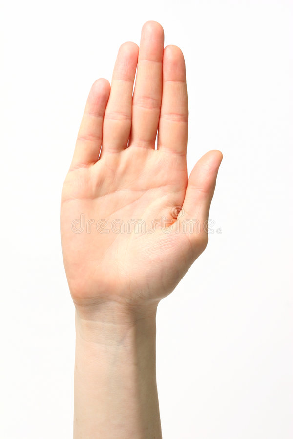 Letter B - Sign Language stock photography