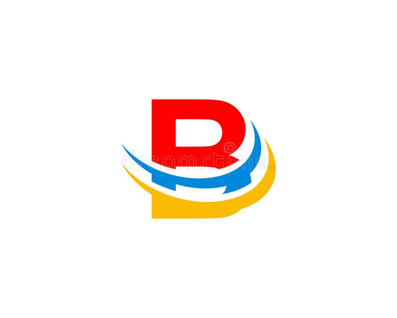 Letter B Swoosh Logo royalty free illustration