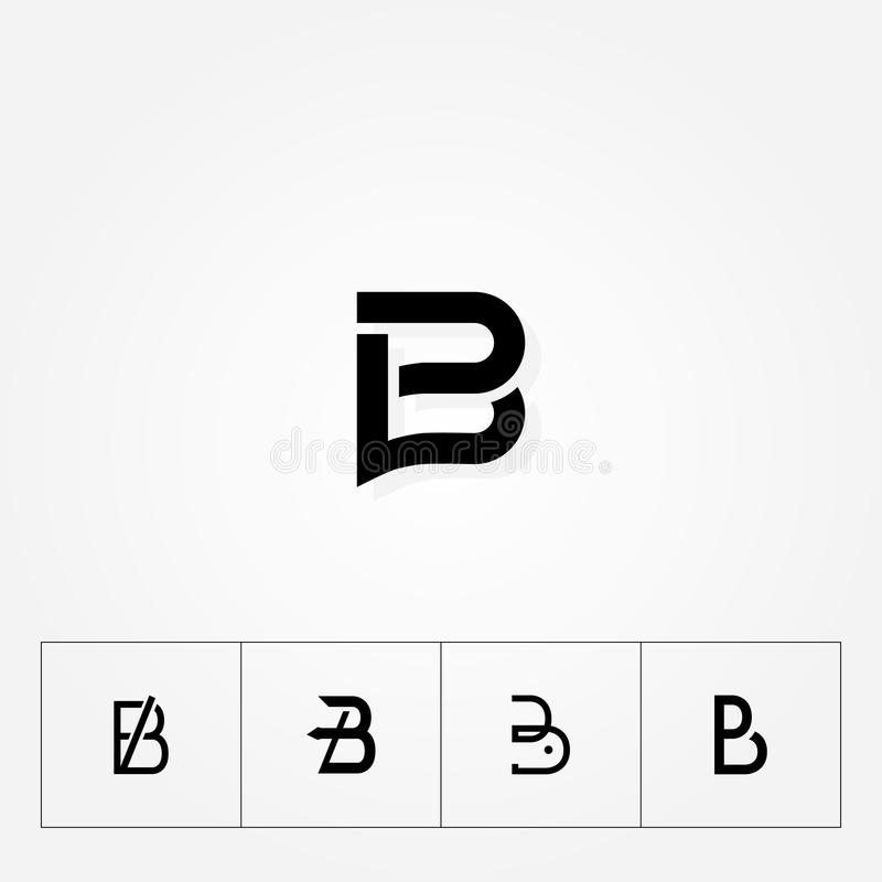 Letter `B` various great big logo typograpy initial. Various Letter `B` big logo pack for your company vector illustration