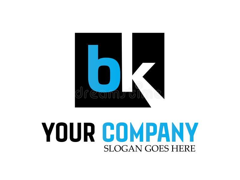 Letter bk Modern Logo Design Vector royalty free illustration