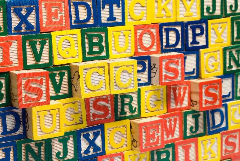 Letter Blocks stock images