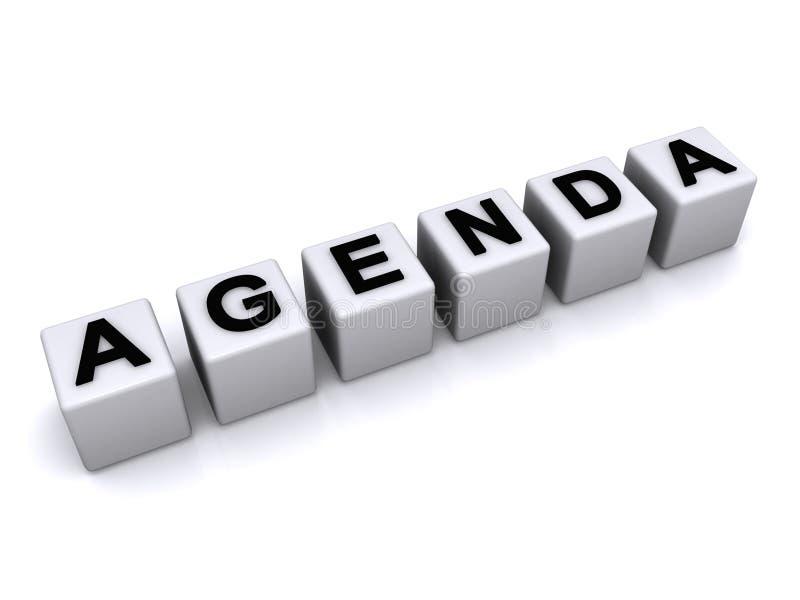 Agenda letter blocks royalty free illustration