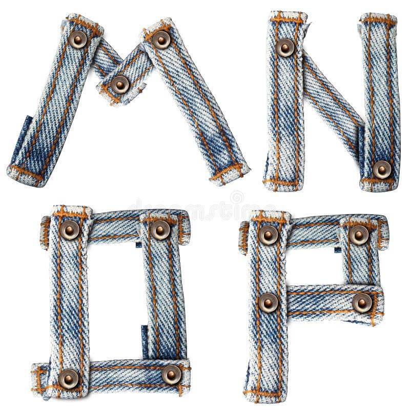 Download Letter Of Blue Jeans Alphabet Stock Illustration - Image: 24797882