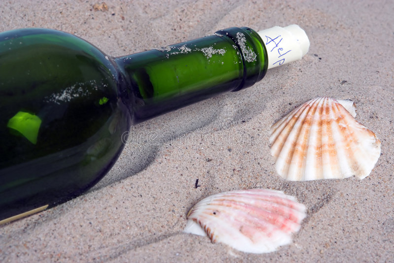 Letter in a bottle royalty free stock image