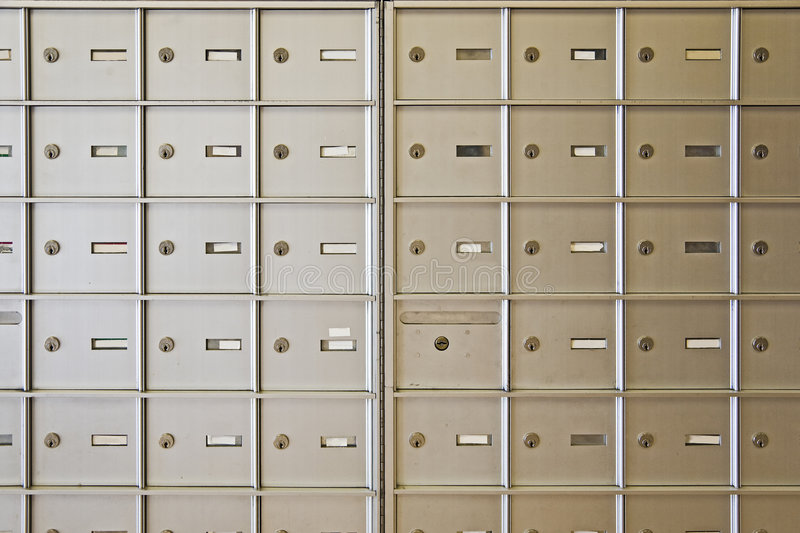 Letter boxes stock photo