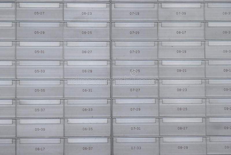 Letter Boxes royalty free stock photography