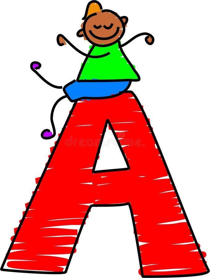 Letter A boy. Little boy sitting ontop of a letter A - toddler art series