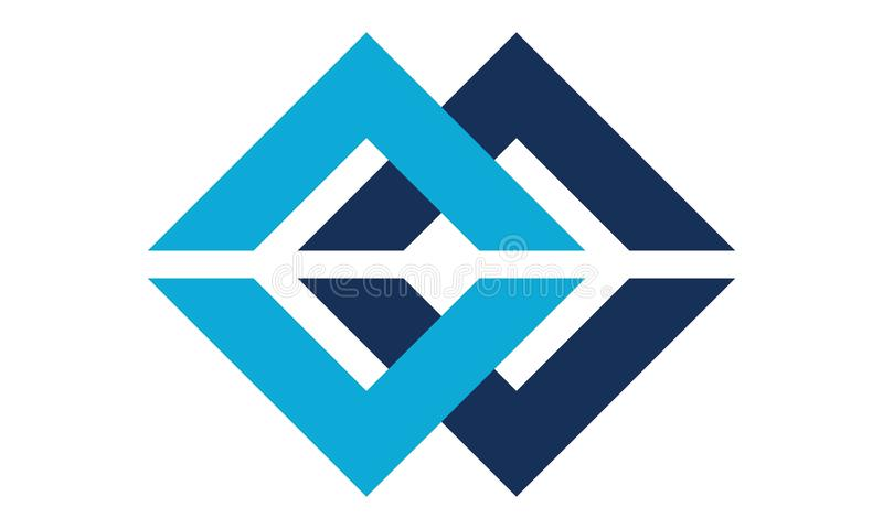 Letter C, CC Modern Logo royalty free illustration