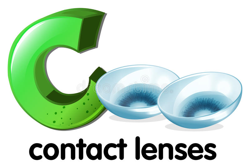 A letter C for contact lenses royalty free illustration
