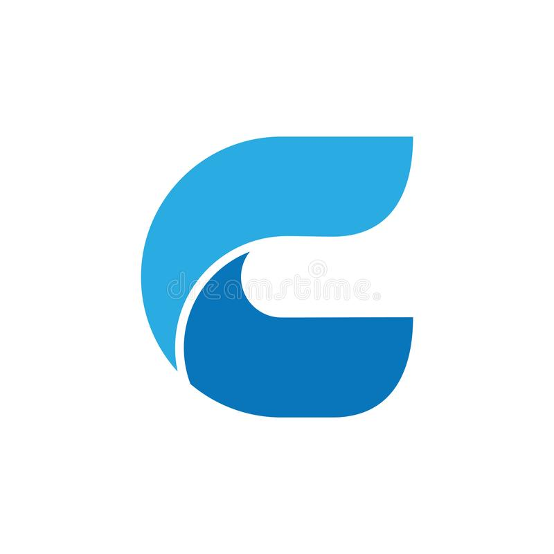 Letter c curves 3d logo vector stock photography