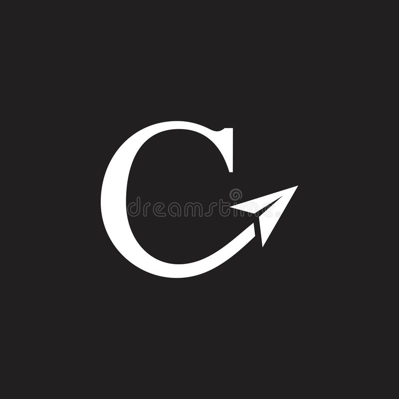 Letter c fast arrow aviation logo vector. Unique unusual luxury elegant simple design vector illustration