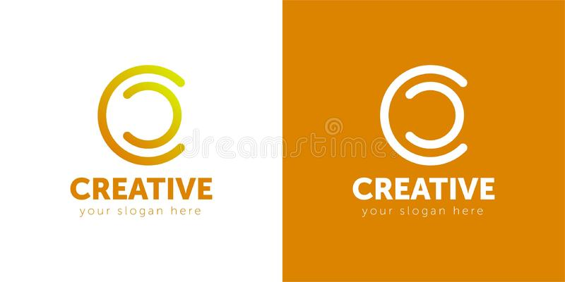 Letter C logo icon design template elements. Vector color sign. vector illustration