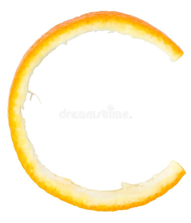 Letter C orange stock images