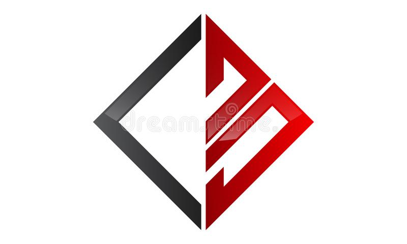 Letter CB Design Initial Logo royalty free illustration