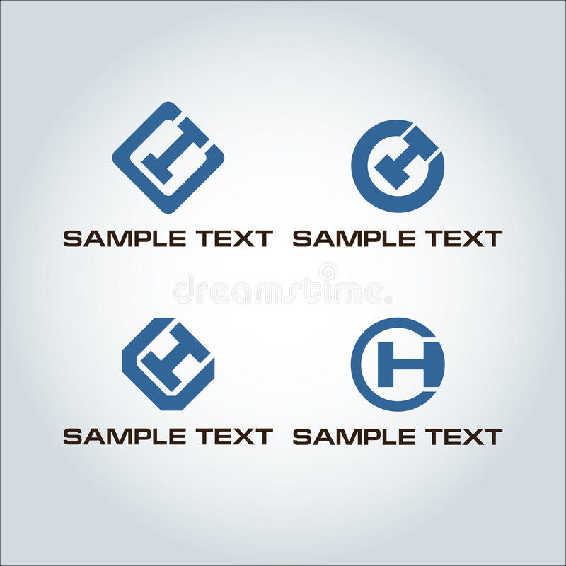 Letter CH Logo stock photos