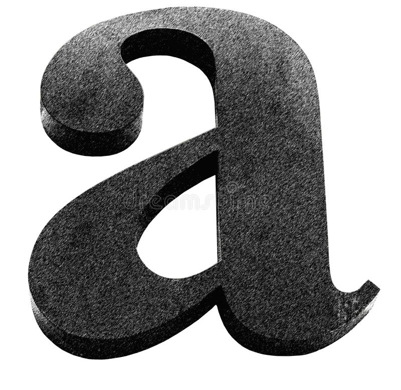 Letter A. Classical letter A in serif version stock photos