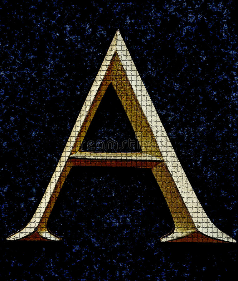 Letter A. Classical letter A in serif version royalty free stock photo