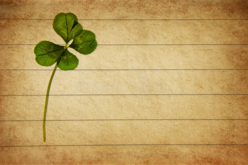 Letter with clover royalty free stock photography