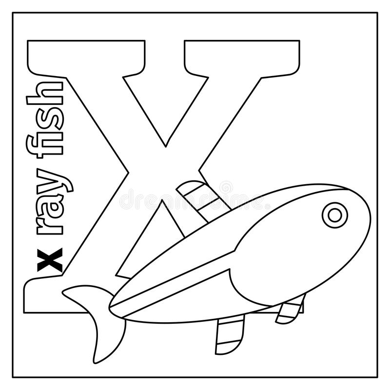 Letter X coloring page stock vector. Illustration of cheerful - 79427768