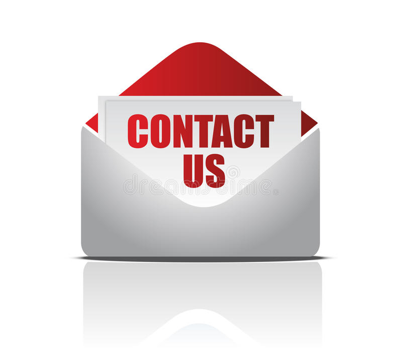 Download Letter With Contact Us Card Royalty Free Stock Images - Image: 19659279