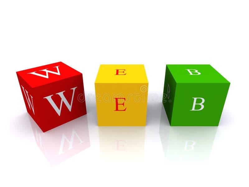 Letter cubes web stock illustration