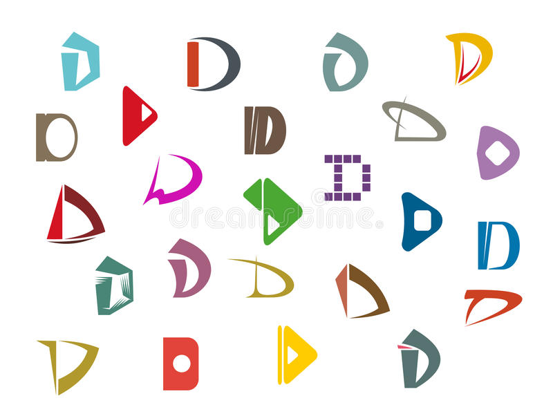 Letter D royalty free illustration