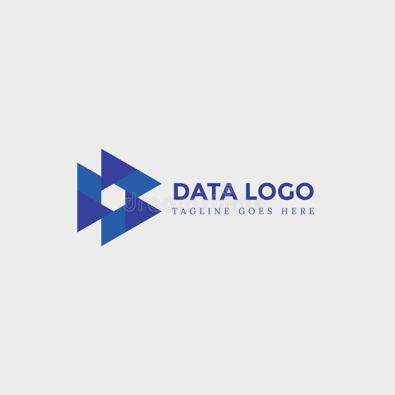 Letter D Abstract Logo, Modern Logo, Template Logo, Technology.  royalty free illustration