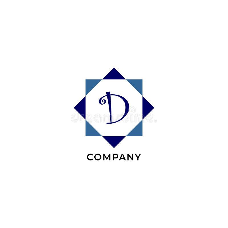 Letter D Alphabetic Logo Design Template, Development company Logo Concept иллюстрация вектора