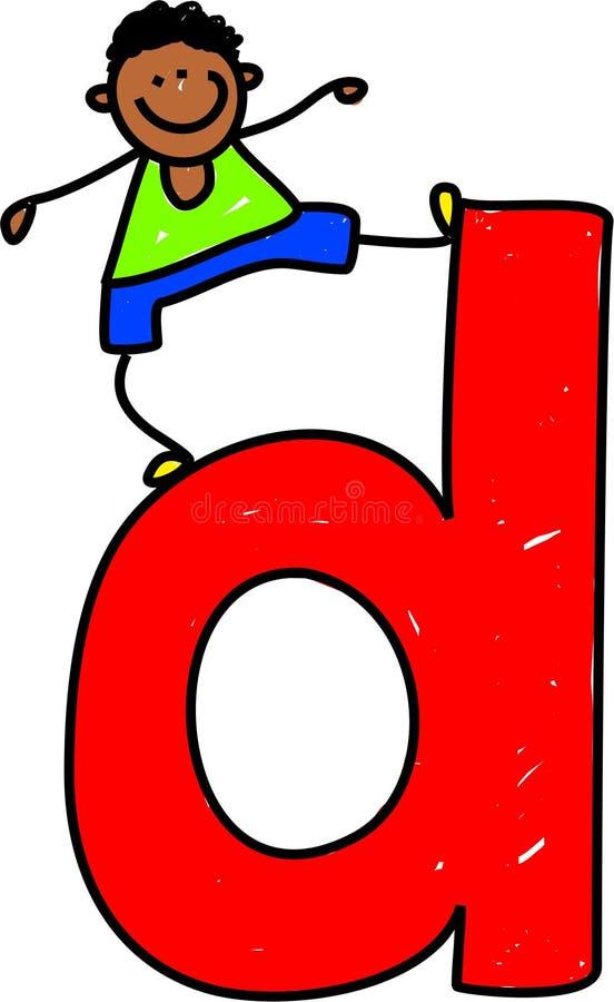 Letter D boy stock illustration