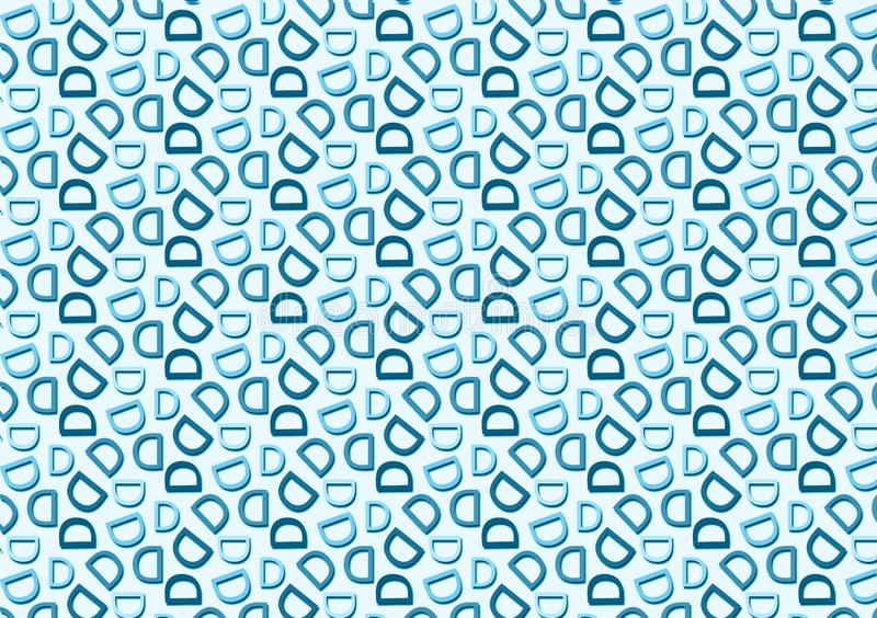 Letter D pattern in different blue colored shades pattern. Background used as wallpaper stock illustration