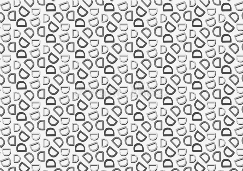 Letter D pattern in different colored grey shades pattern. Background used as wallpaper stock illustration