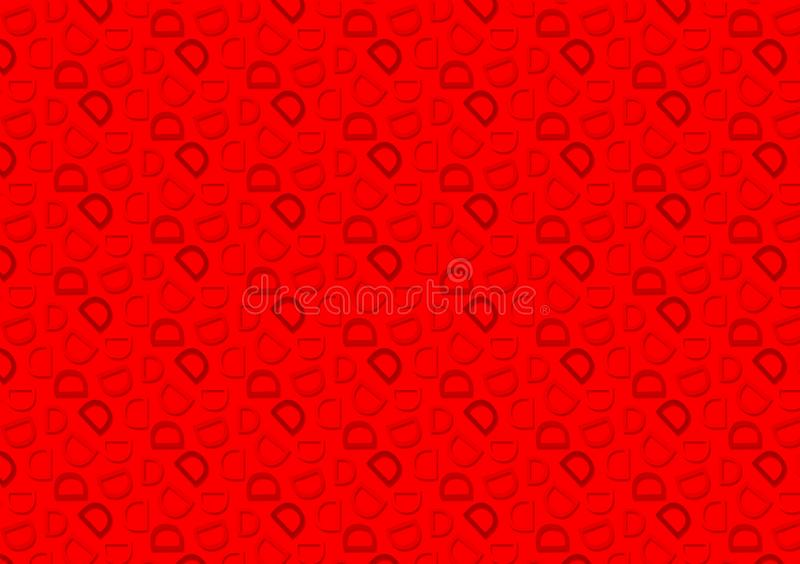 Letter D pattern in different colored red shades pattern. Background used as wallpaper royalty free illustration