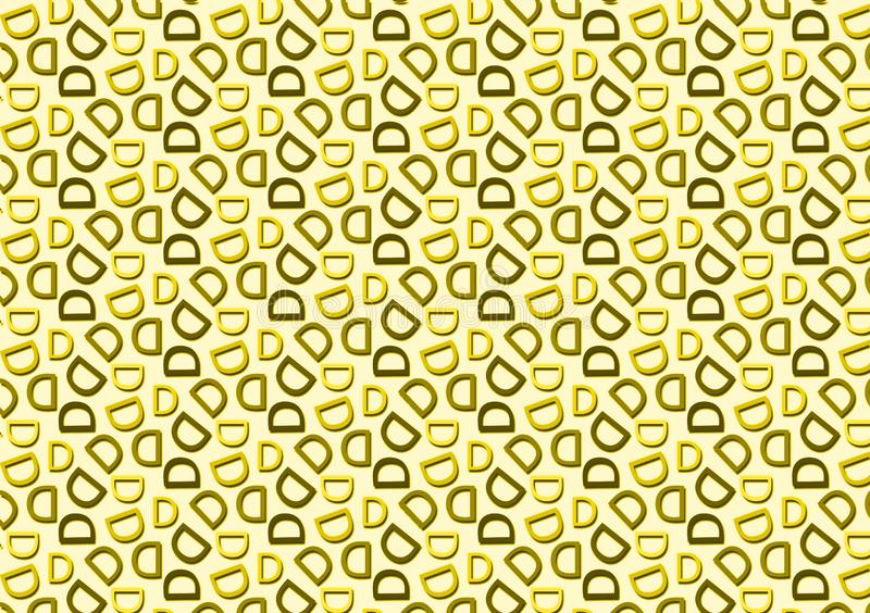 Letter D pattern in different colored shades pattern. For use as wallpaper vector illustration