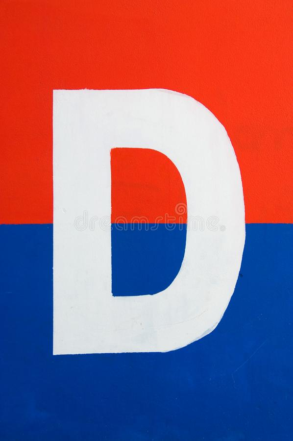 Letter D sign royalty free stock photo