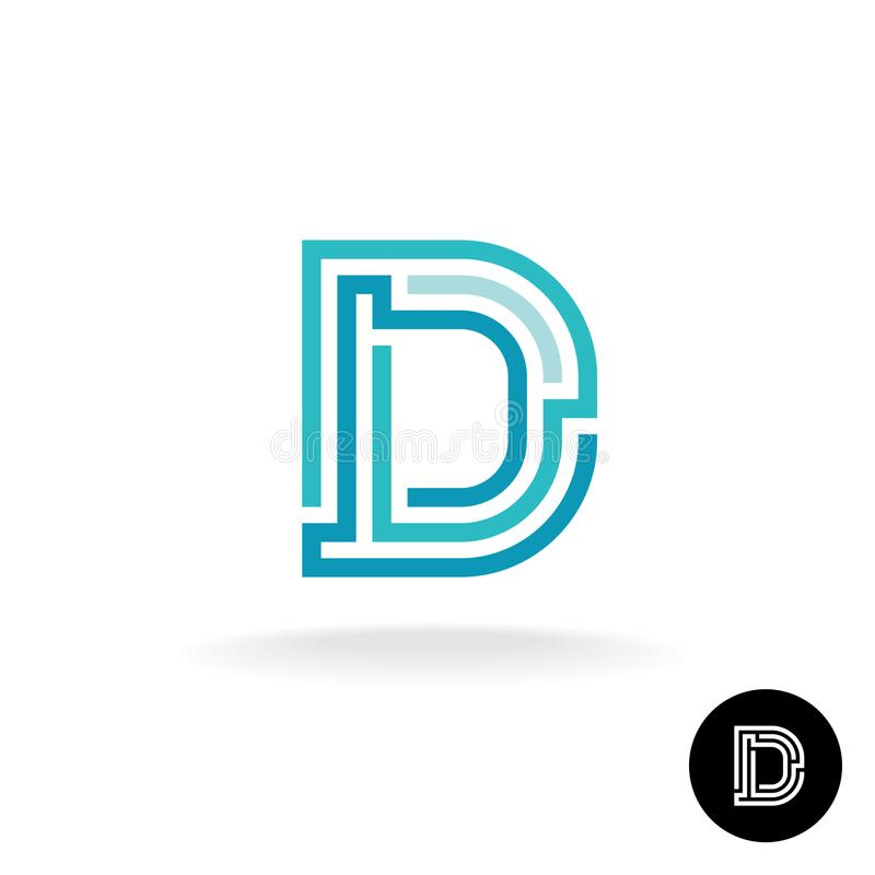 Letter D technical logo. stock illustration