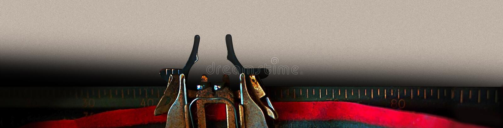 Typewriter banner text message design concept - What is your story royalty free stock photography