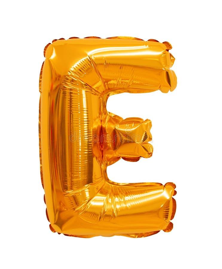 Letter e from a balloon orange stock photo