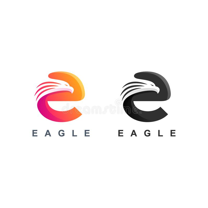 T Initial Shield Vector Logo Design Concept Logo Design And Business Card: Creative Initial Letter F With Eagle Bird Logo Template