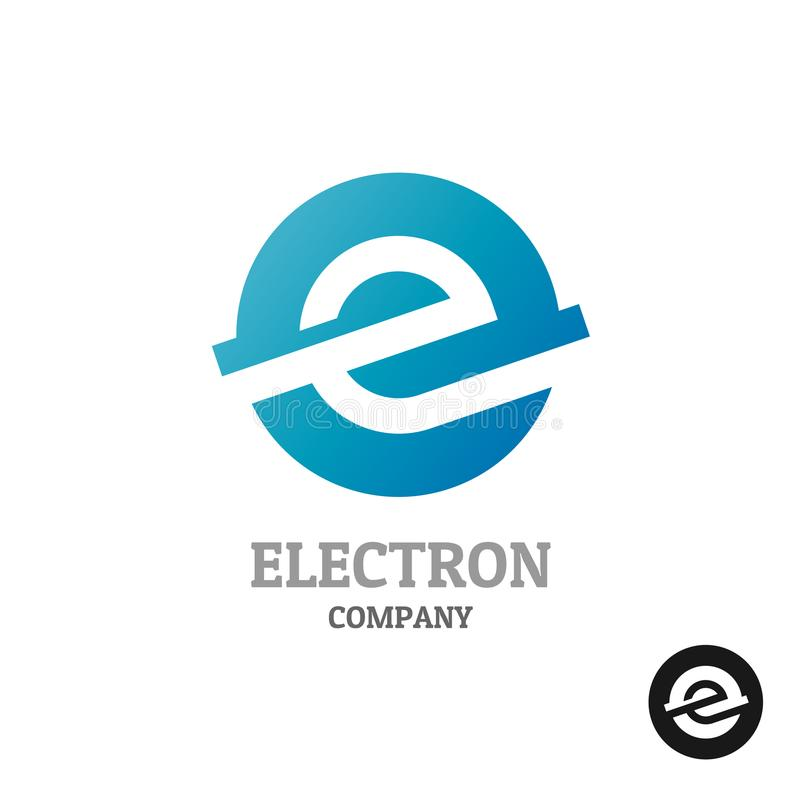 Letter E Logo Industrial Tech Style Symbol Stock Vector
