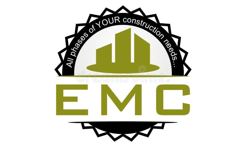 Letter Emc Real Estate Emblem Template Stock Vector Illustration