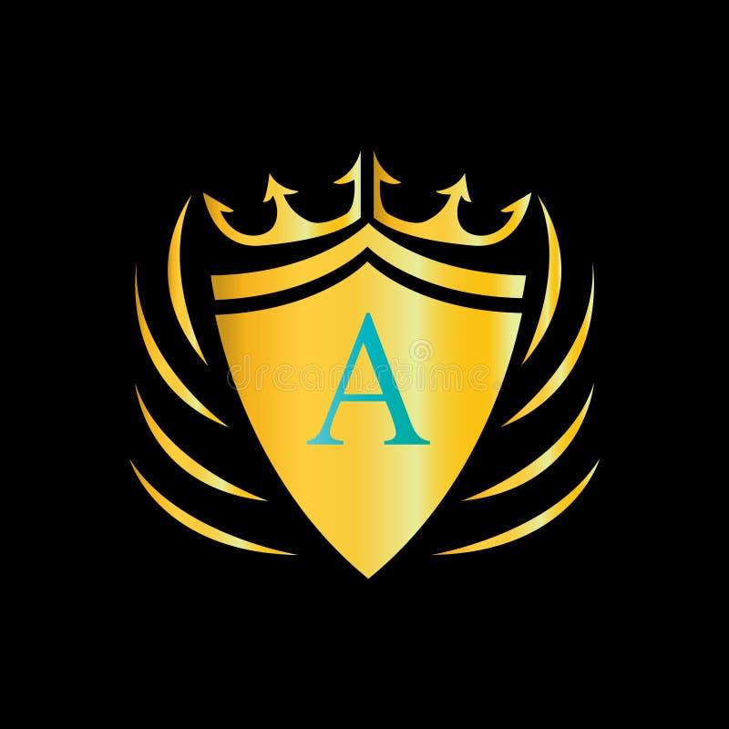 Letter en logo Plan logodesign f?r ditt f?retag stock illustrationer